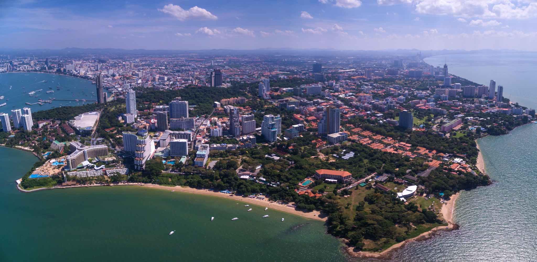 Pattaya Beach seen from the air