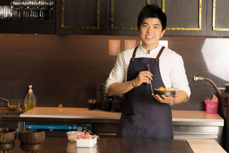Chef Ton van Le Du en Nusara in Bangkok, Thailand