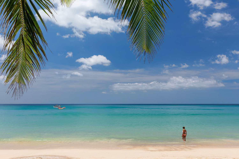 The sea of Kamala Beach on Phuket