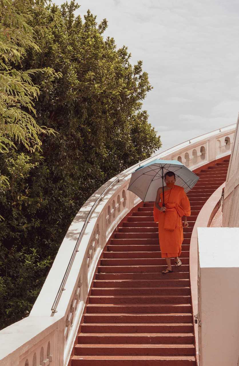 Monk at the Golden Mount (Wat Saket) in Bangkok