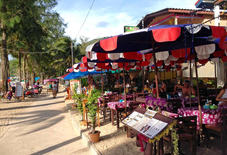 The promenade parallel to Kamala Beach on Phuket