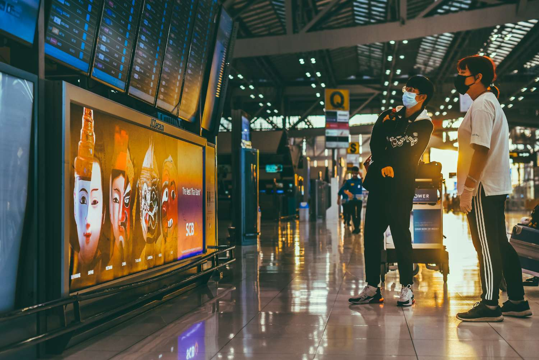 Bangkok airport during Covid-19