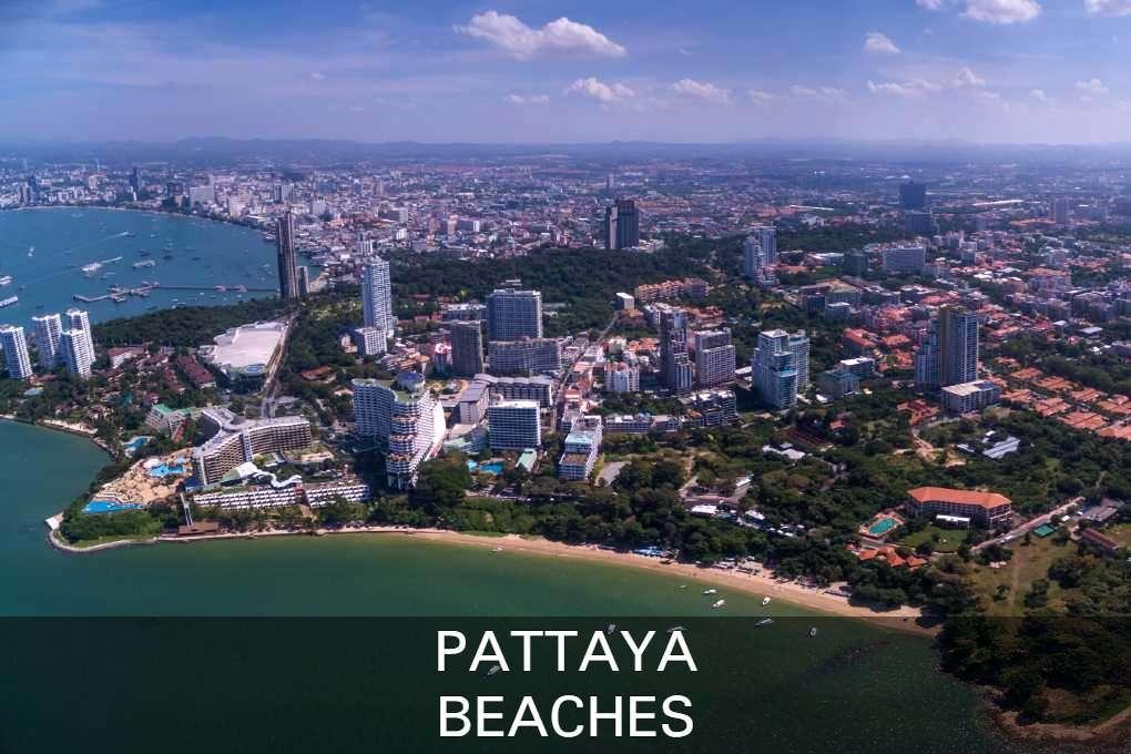 Aerial view of Pattaya's beaches