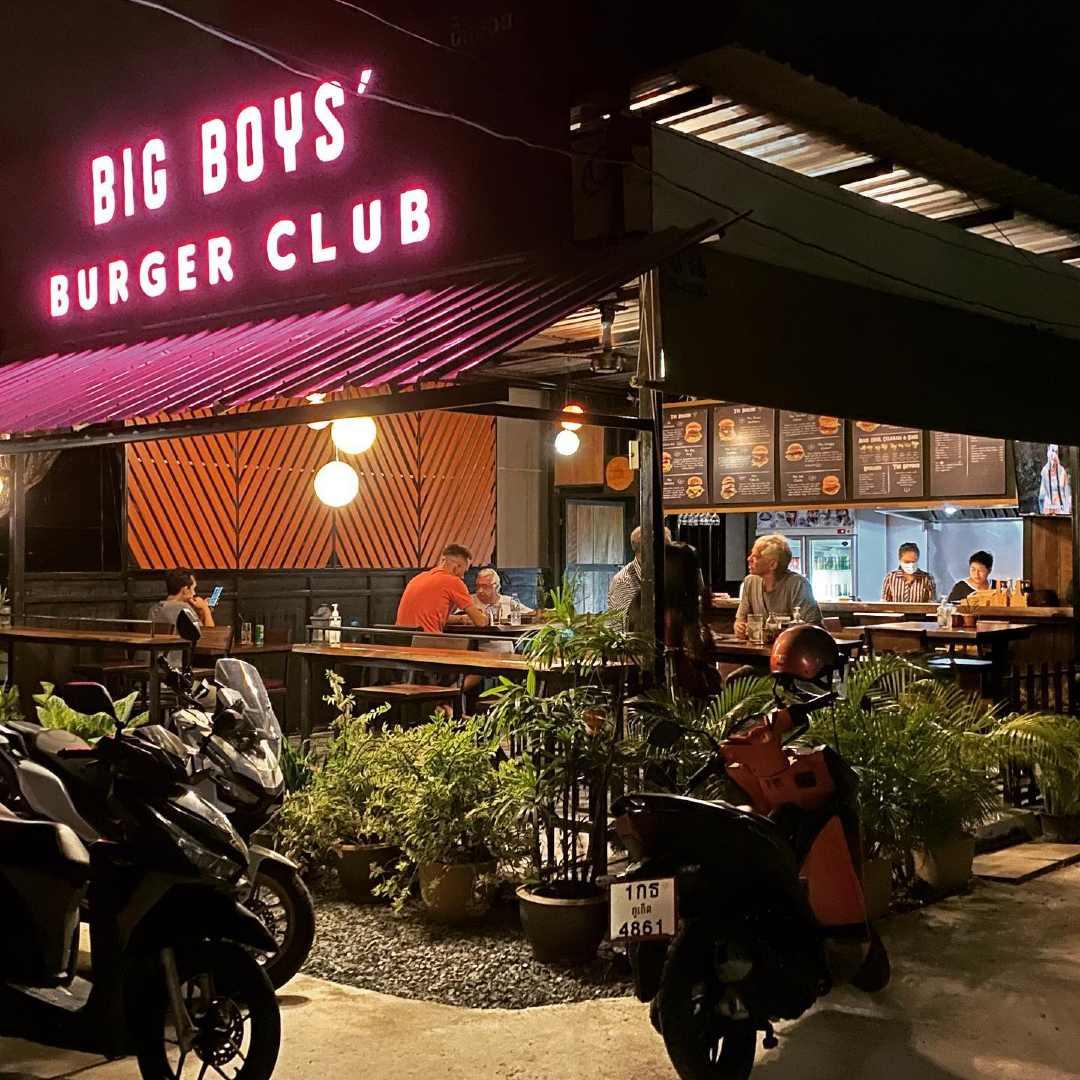 Big Boys Burger Club in Kamala Village on Phuket, Thailand