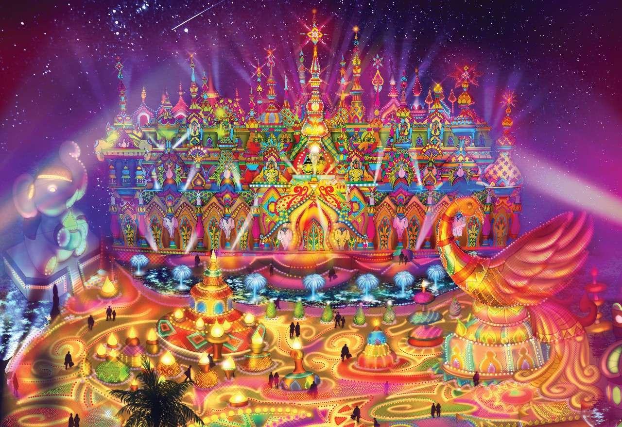 Sketch of Castle of Starlight from Carnival Magic in Kamala Beach on Phuket