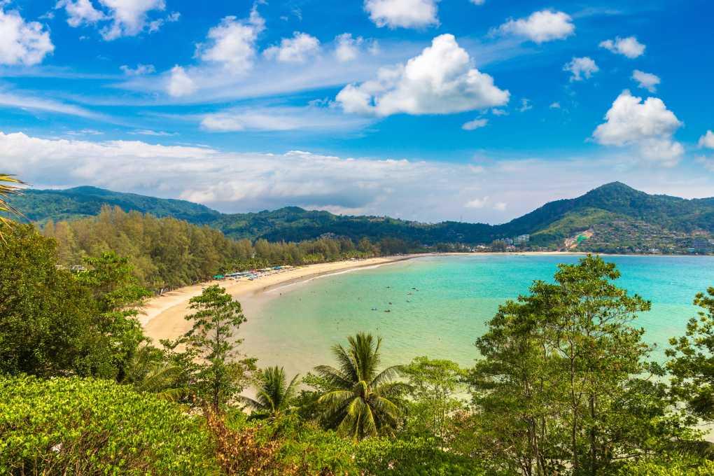 View over Kamala Beach on Phuket in Thailand