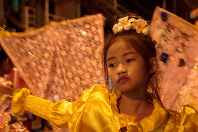 Phansa celebration in Messariang, Thailand
