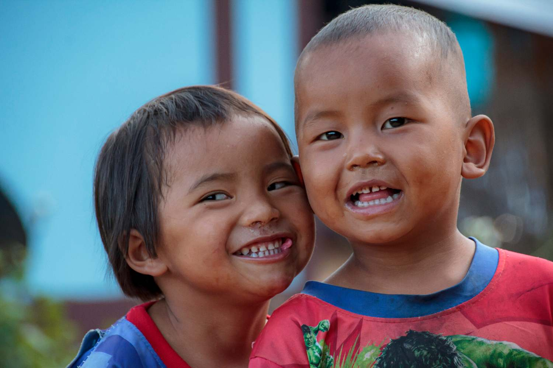 Two Lisu boys in Khob Dong, Thailand