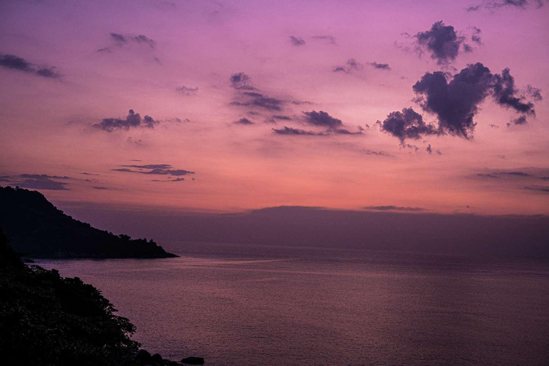 Sunset at Kata Noi on Phuket, Thailand