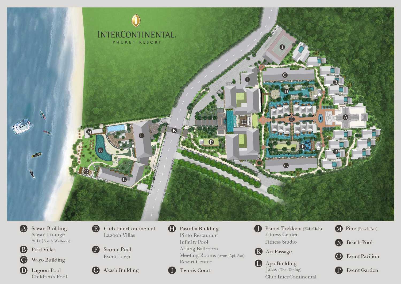 Map of the InterContinental Phuket on Kamala Beach on Phuket