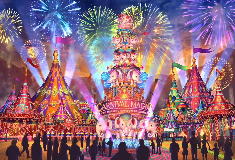 Sketch of entrance of Carnival Magic in Kamala Beach on Phuket