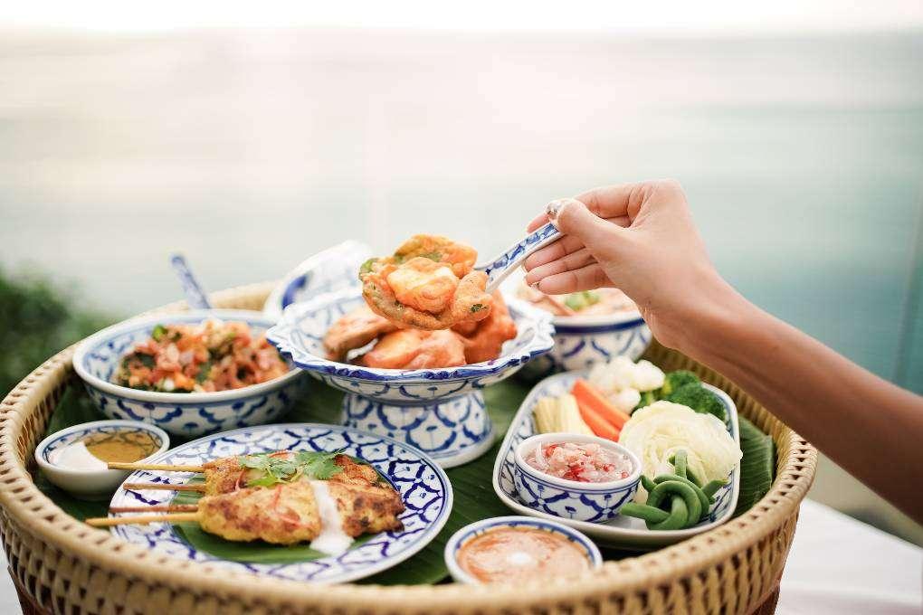 Thai food at Talung Thai on the rooftop of Paresa near Kamala Beach on Phuket