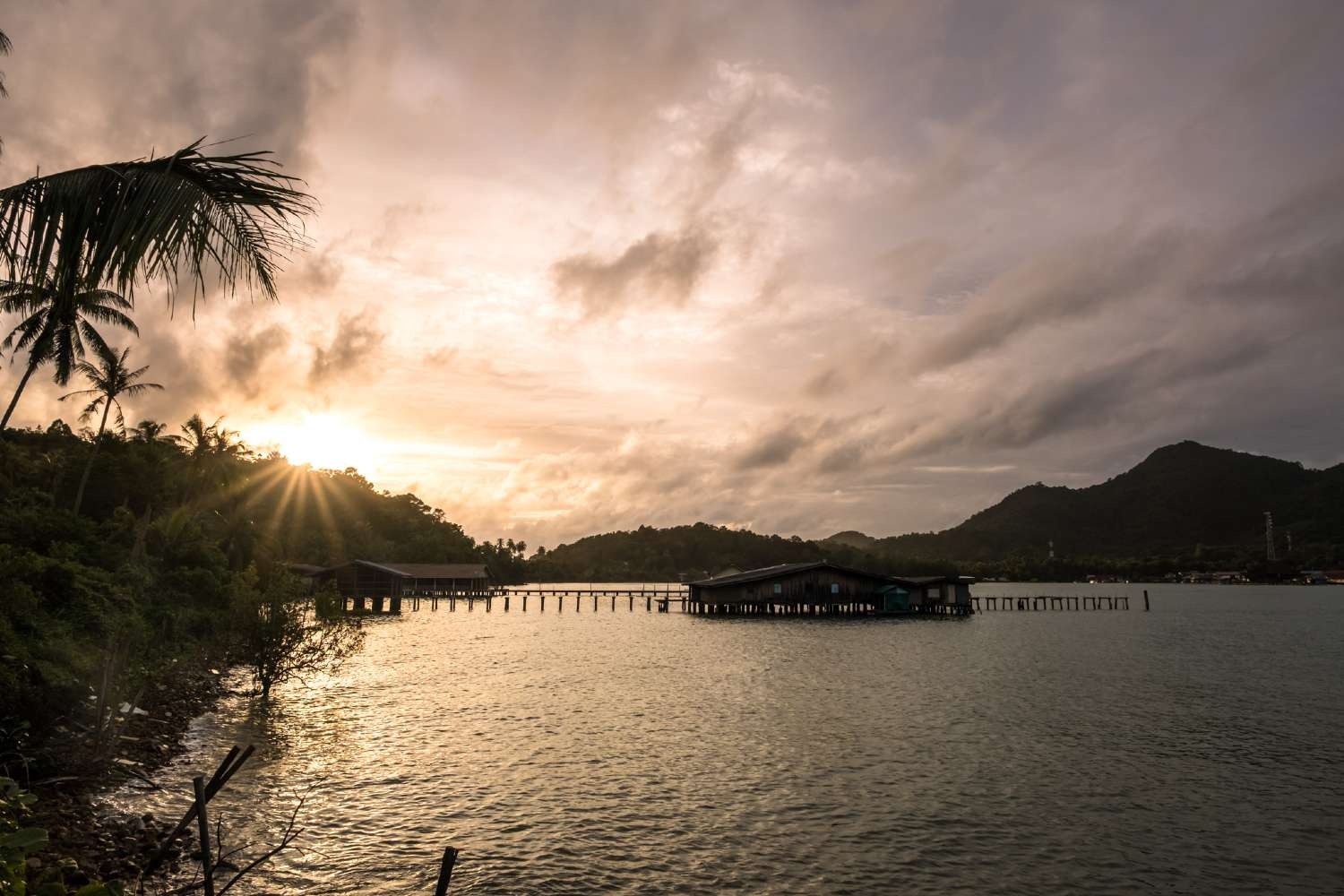 Pier on Koh Chang in Thailand