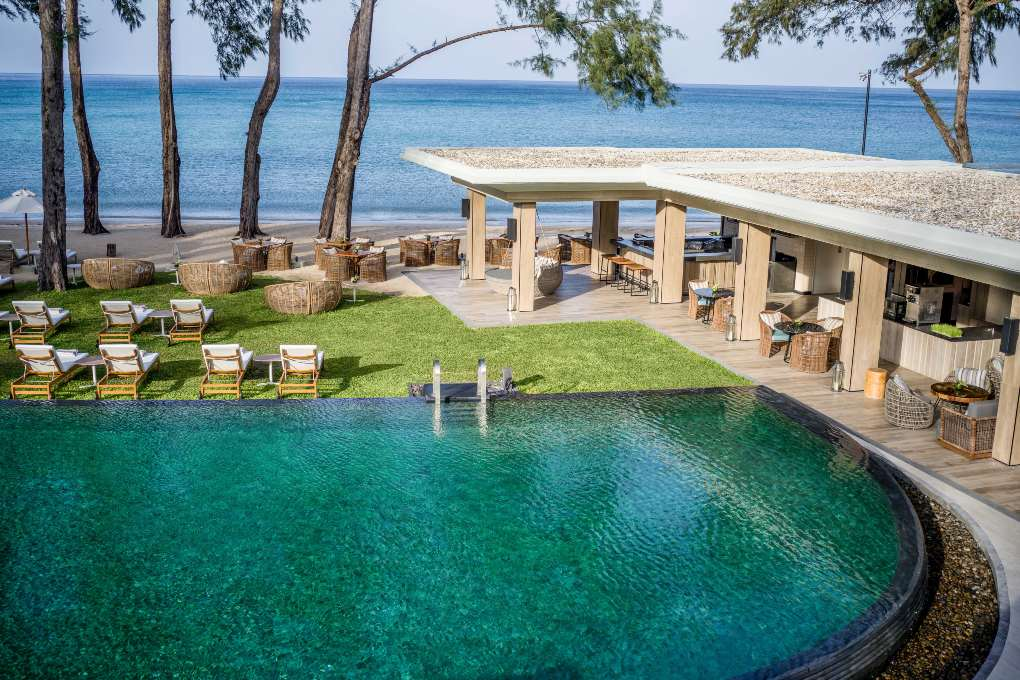 Pine Bar and pool of the InterContinental Phuket at Kamala Beach on Phuket
