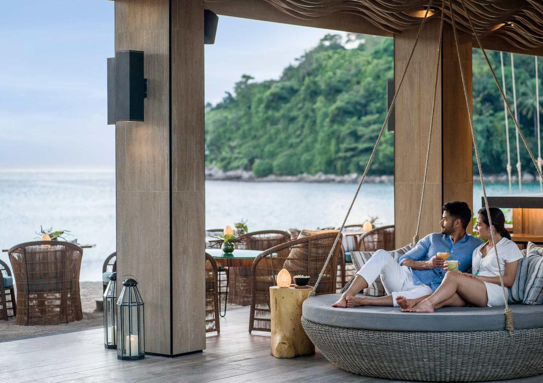 Pine Beach Bar at Kamala Beach on Phuket in Thailand