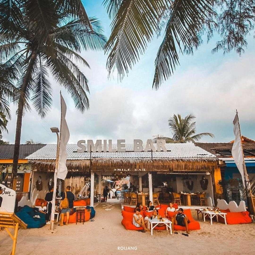 Smile Bar at Kamala Beach on Phuket in Thailand