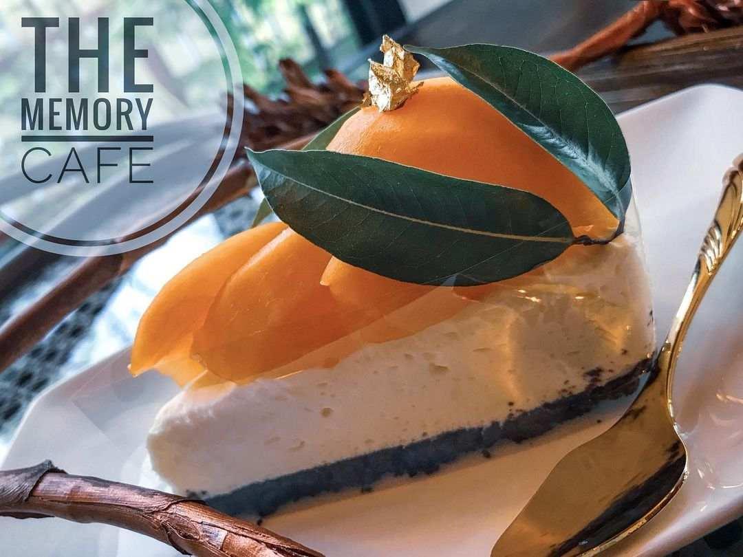 Mango Cheesecake at The Memory Cafe in Kamala Village on Phuket, Thailand