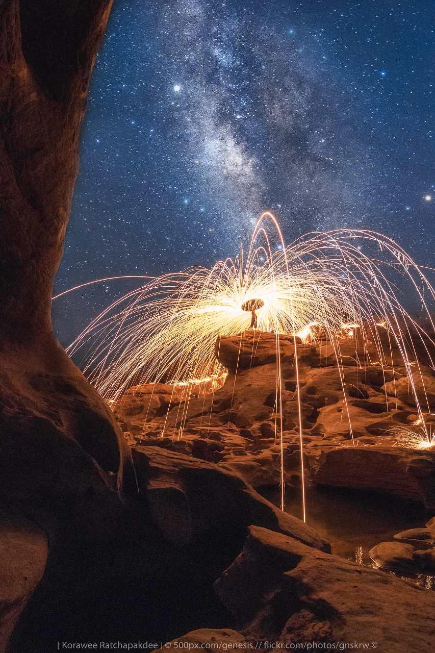 Stars over Sam Phan Bok in Thailand