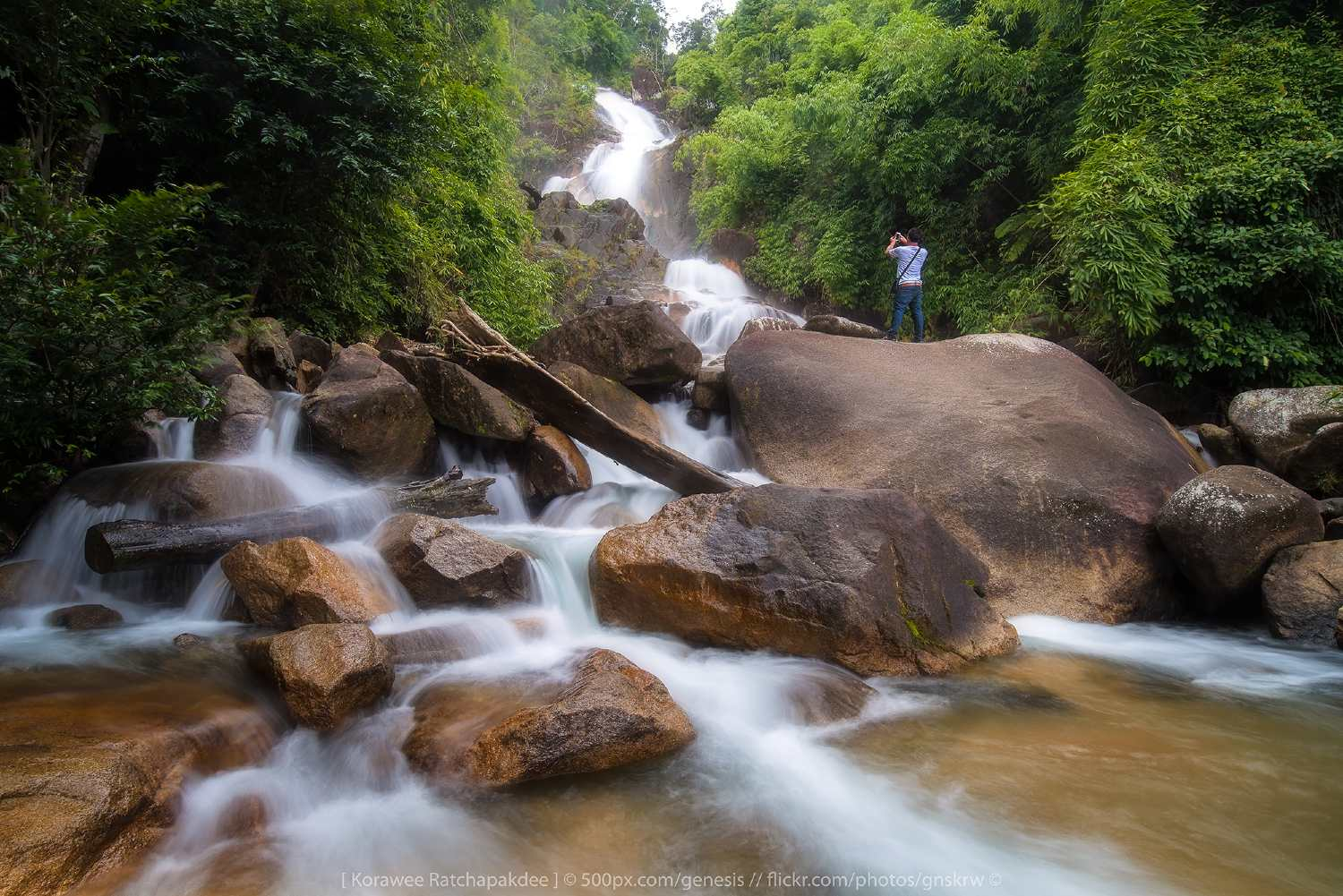 The Krating waterfall, a large waterfall in the Chantaburi province of Thailand