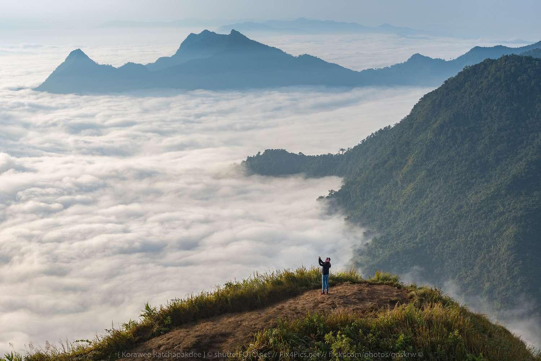 Phu Chee Fah in Chang Rai Province, Thailand