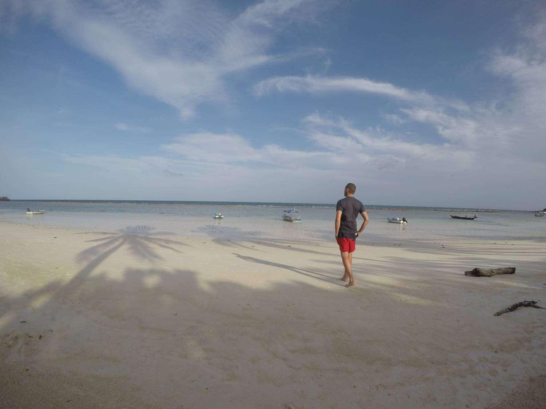 Een strand in Koh Phangan in Thailand