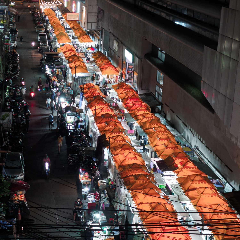 Bangrak Night Market in Bangkok