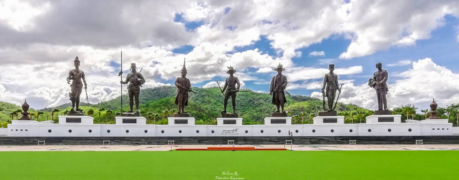 The Rajabhakti Park in Hua-Hin with the statues of the 7 kings