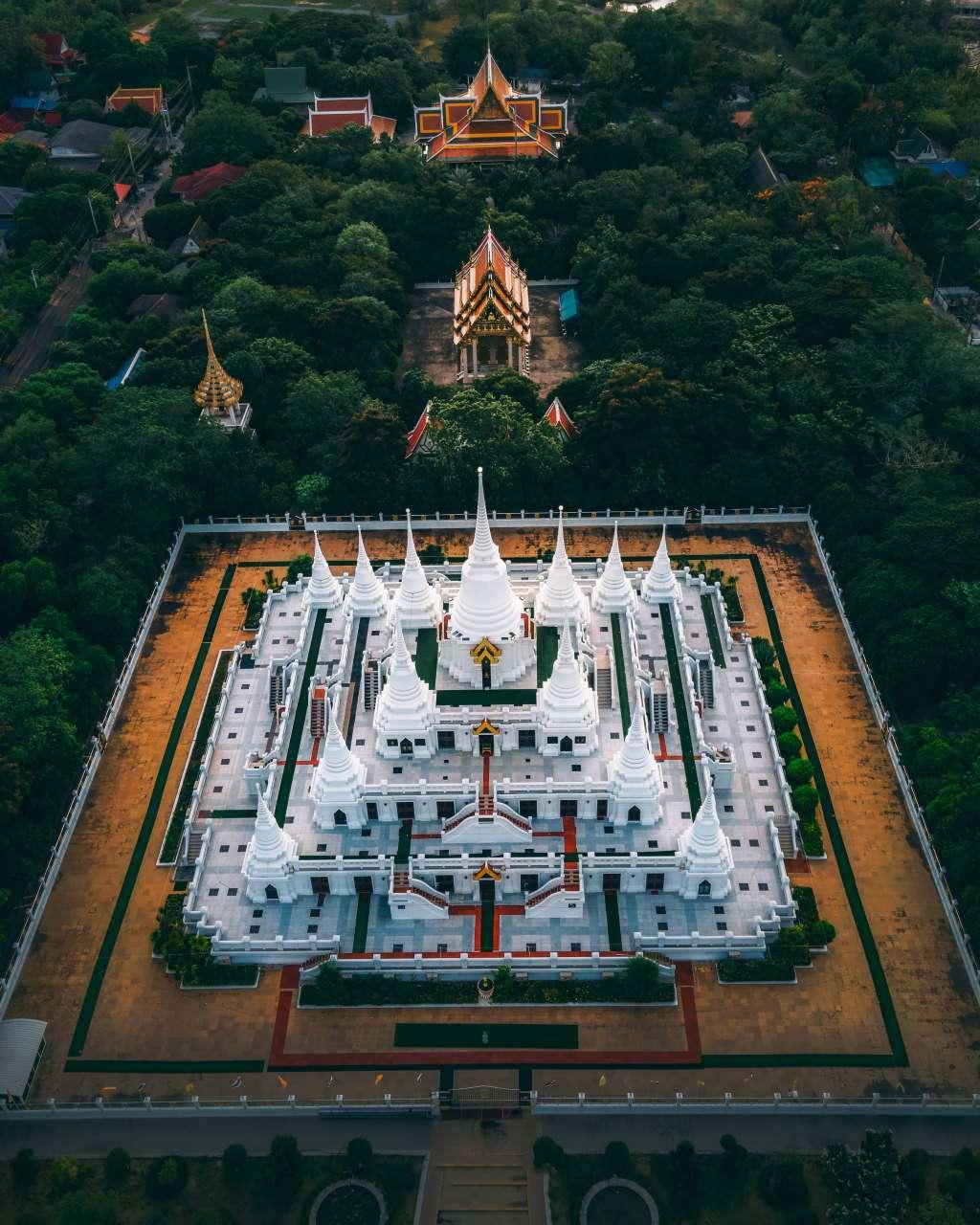 Wat Asokaram bird-eye view
