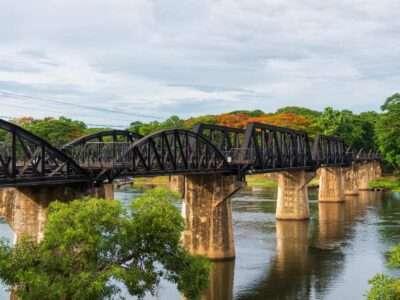 Bridge Over The River Kwai In Kanchanaburi, Thailand