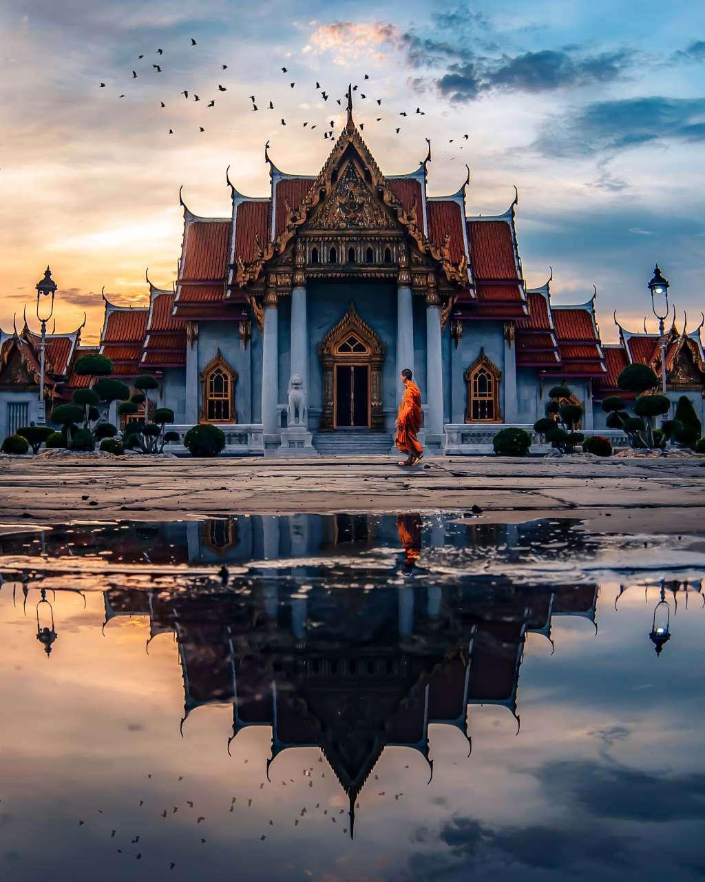 De Wat Benjamabophit in Bangkok