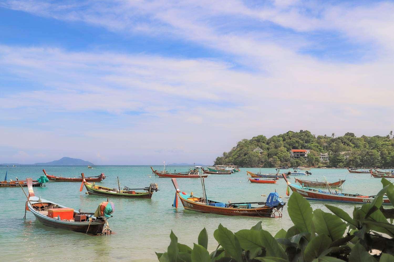 Longtailboten op Koh Phi Phi