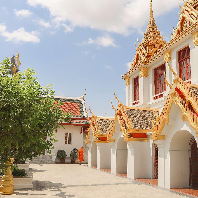 Wat Ratchanatdaram of Loha Prasat in Bangkok