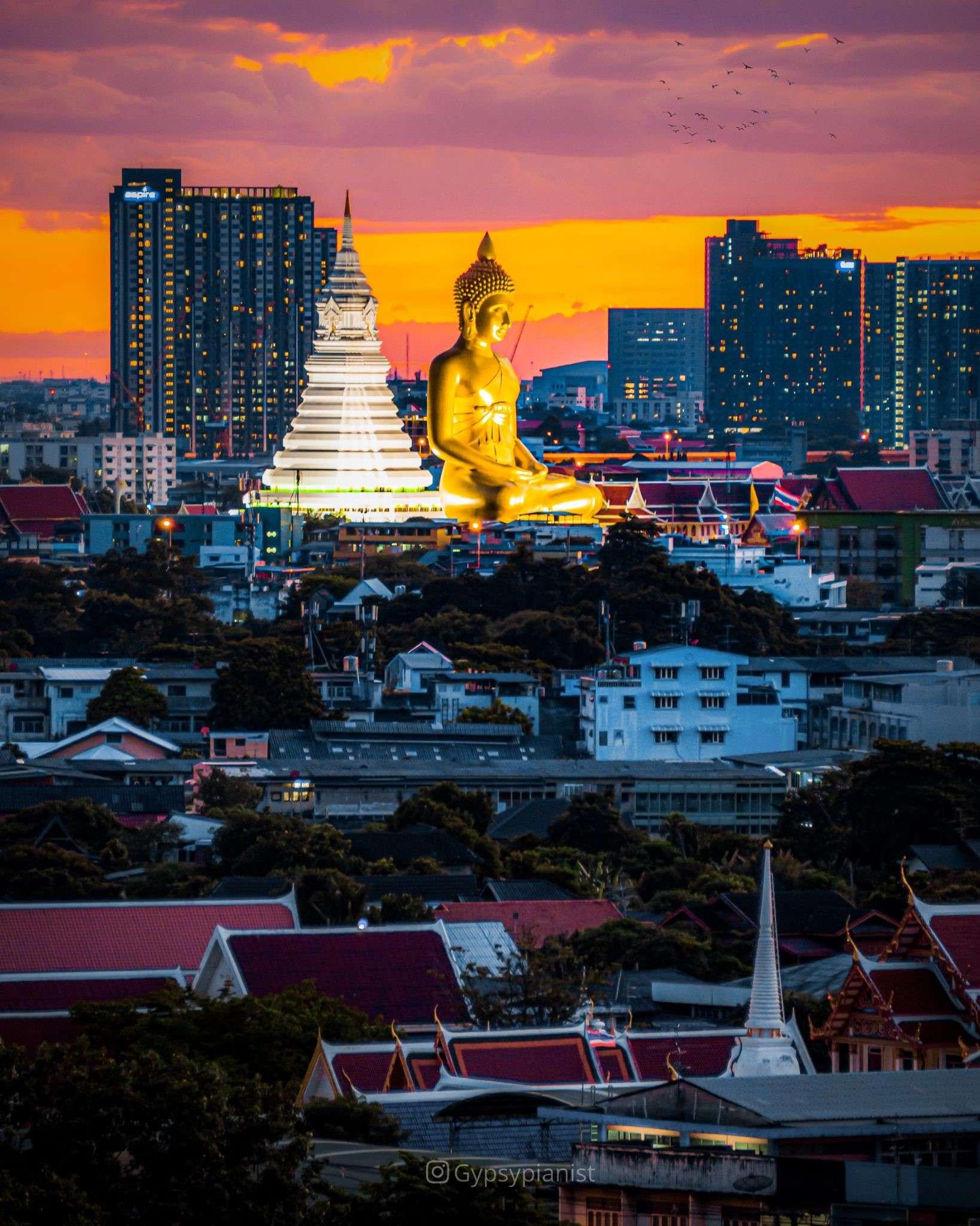 The Wat Paknam in Bangkok