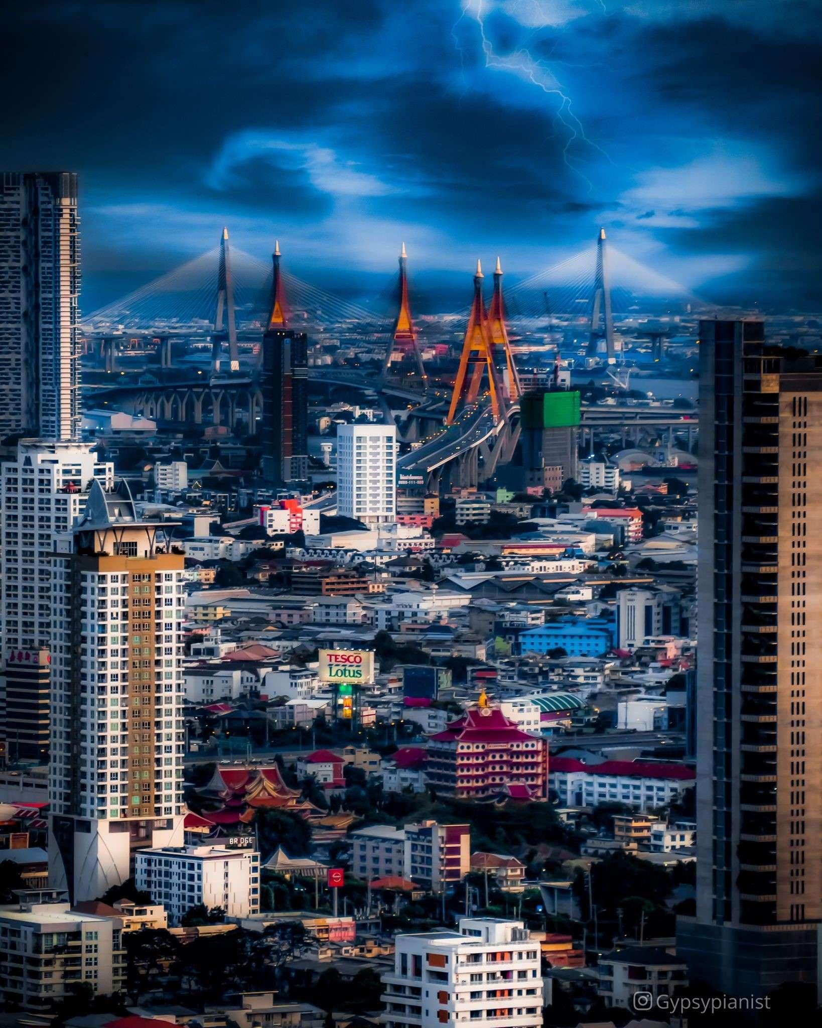 View from the Vertigo Rooftop and Moon Bar over Bangkok