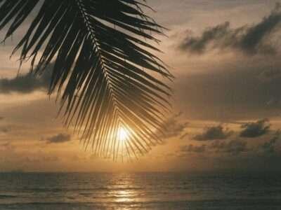 Sunset Above Koh Lanta In Thailand