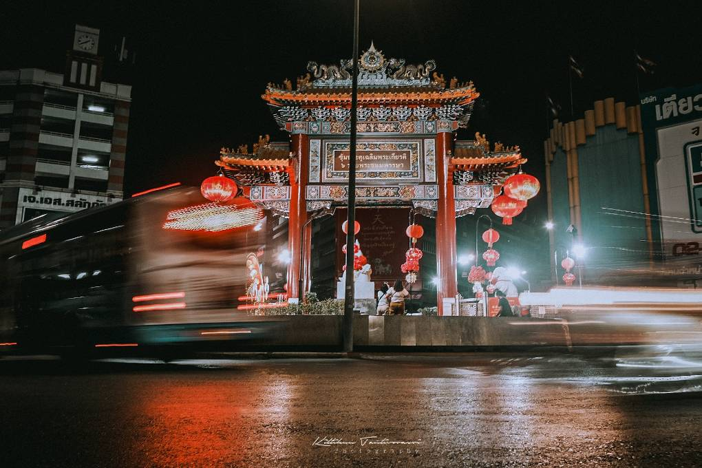 China Town Gate at Yaowarat Road in Bangkok, Thailand
