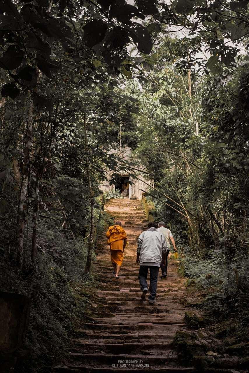 Near the Wooden Mon Bridge in the province Loei