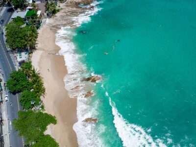 Uitzicht Op Kalim Beach (Phuket) Met Een Drone