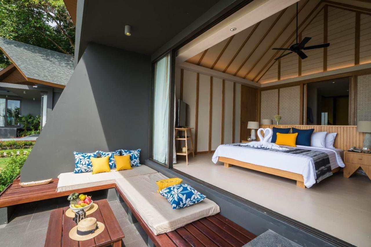 luxe bungalow aan het strand van White Sand Beach