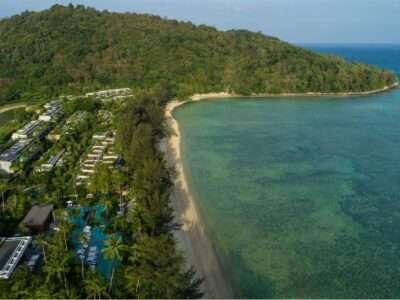 Tri Trang Beach En Het Smaragdgroene Zeewater Gezien Met Een Drone